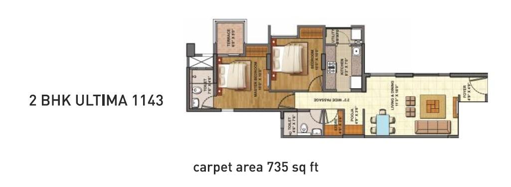 lodha codename epic apartment 2bhk 1143sqft 1