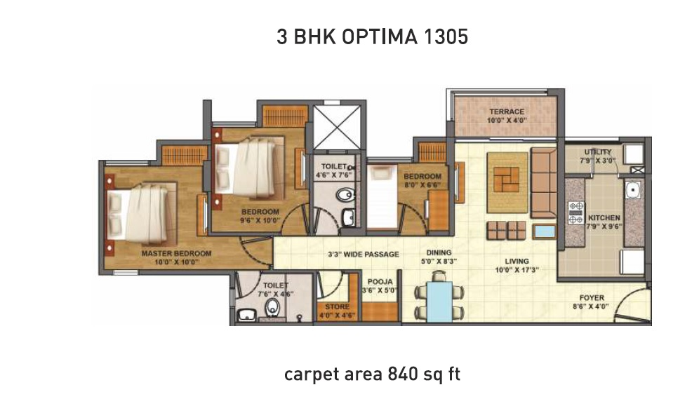 lodha codename epic apartment 3bhk 1305sqft 1