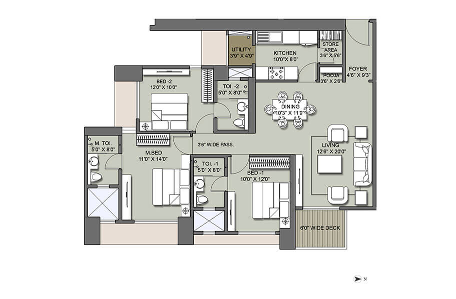 lodha codename hidden jewel apartment 3bhk 1818sqft 1
