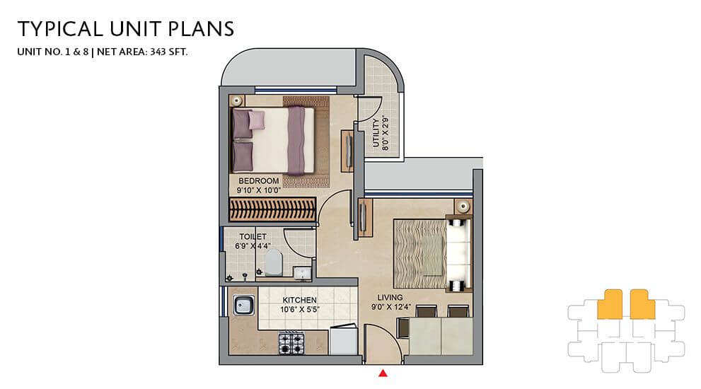 lodha codename move up apartment 1bhk 343sqft 1