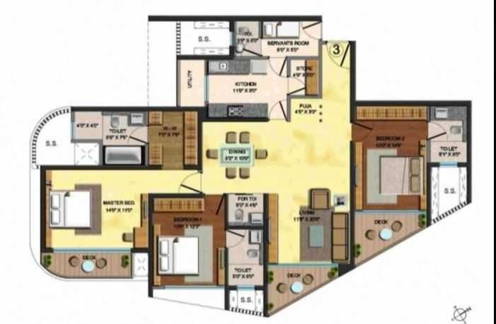 4 Bhk 1623 Sq Ft Apartment For Sale In Lodha Fiorenza At Rs 41163 Sq Ft Mumbai