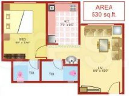lodha heaven apartment 1bhk 530sqft1