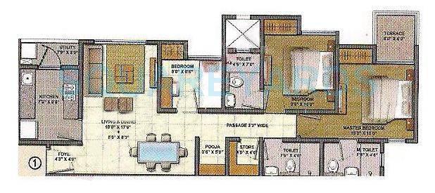 lodha lakeshore greens apartment 3bhk 1314sqft1