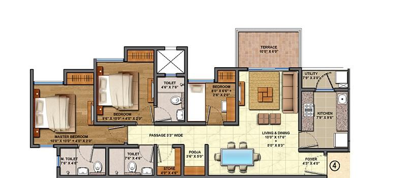 lodha palava aquaville series aurora a and d apartment 3bhk 821sqft21