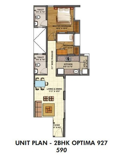 lodha palava casa savanna apartment 2bhk 590sqft 1