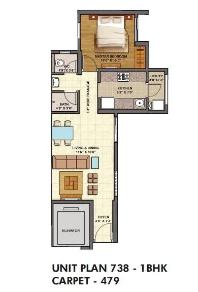 lodha palava casa siena apartment 1bhk 479sqft 1