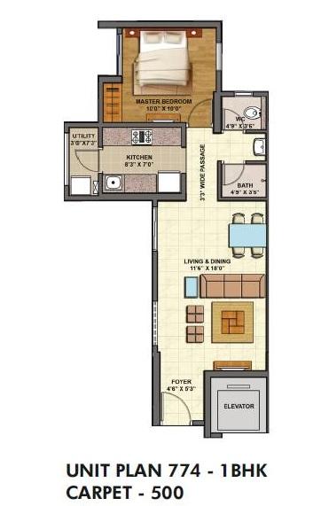 lodha palava casa siena apartment 1bhk 500sqft 1
