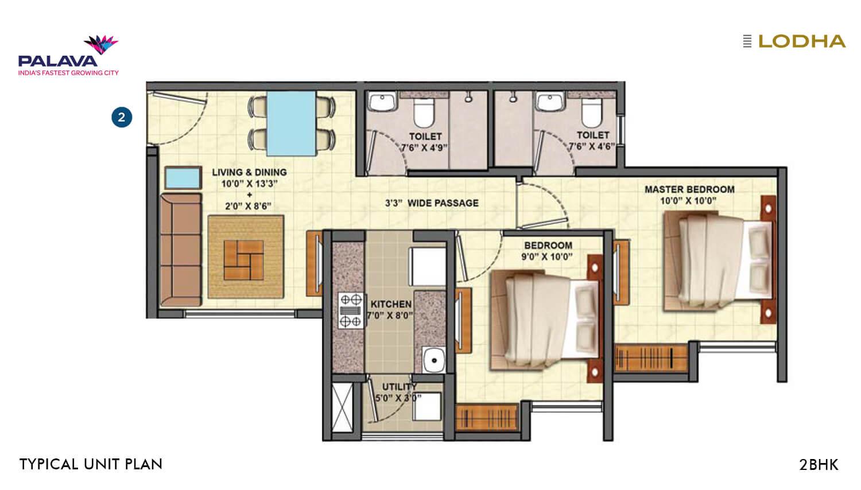 lodha palava riverside apartment 2bhk 582sqft 1