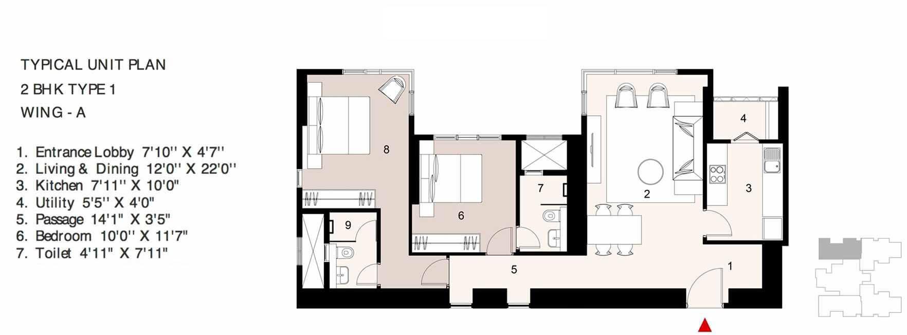 lodha parkside apartment 2bhk 892sqft 1