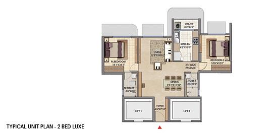 lodha patel estate tower a and b apartment 2bhk 695sqft11