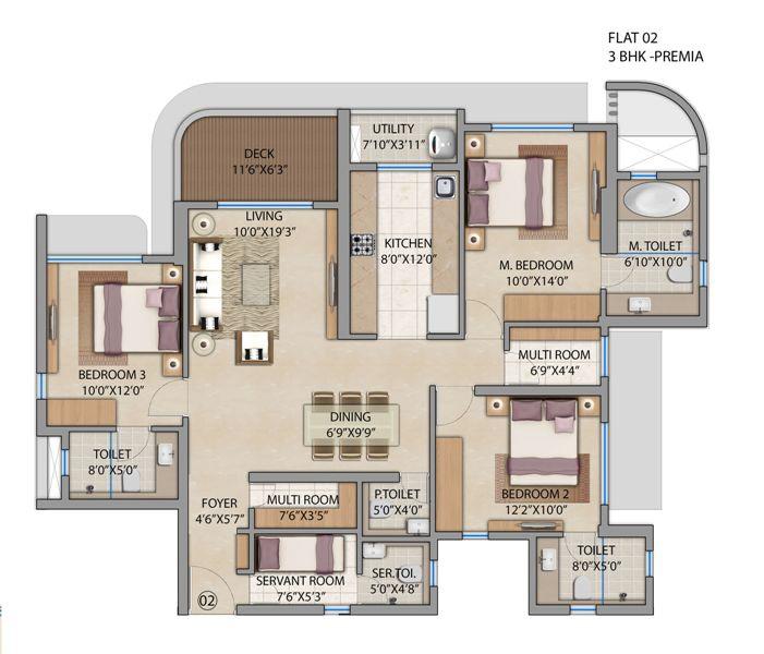 lodha patel estate tower a and b apartment 3bhk 1188sqft61