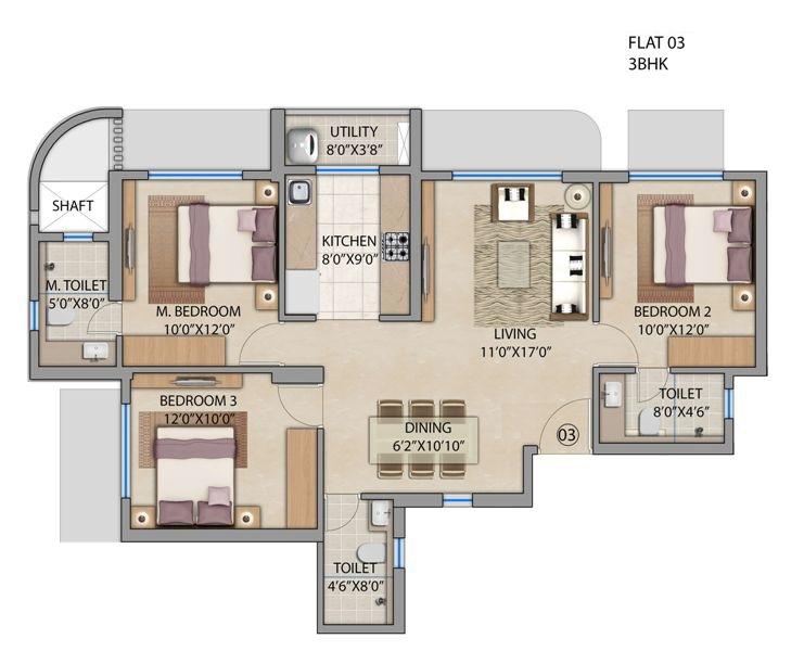 lodha patel estate tower a and b apartment 3bhk 865sqft31