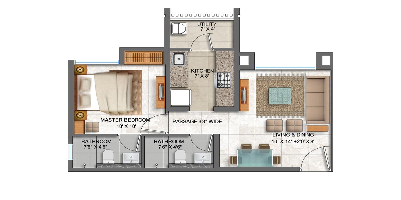 lodha prime square apartment 1bhk 467sqft01