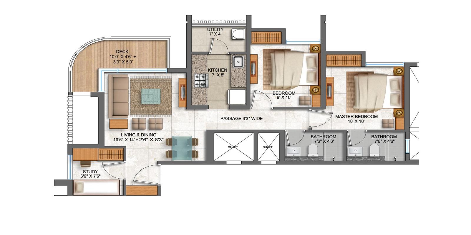 lodha prime square apartment 2bhk st 873sqft31
