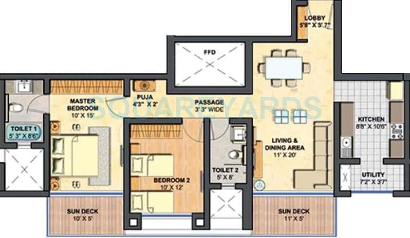 lodha primero apartment 2bhk 1305sqft1