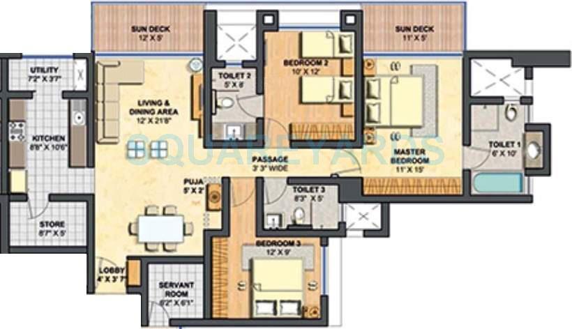 lodha primero apartment 3bhk 1728sqft1