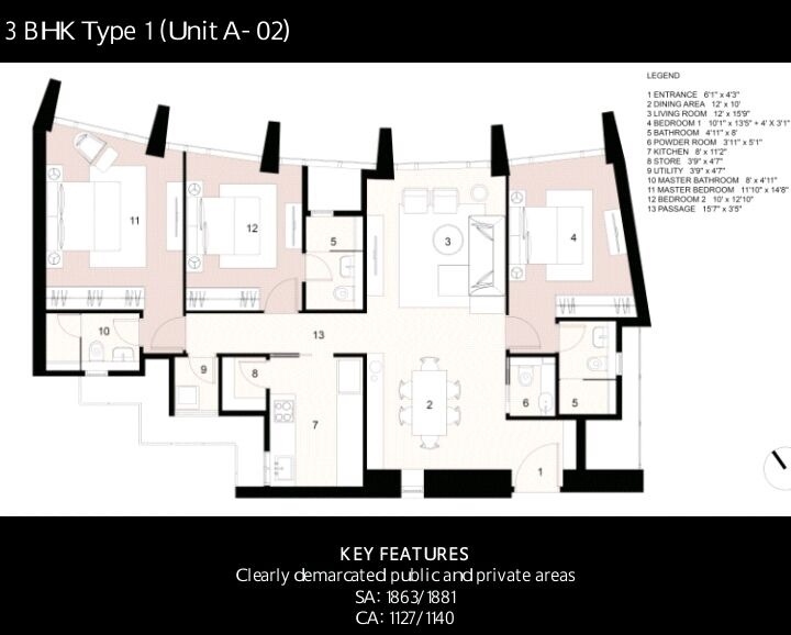 lodha the park apartment 3bhk 1863sqft 1