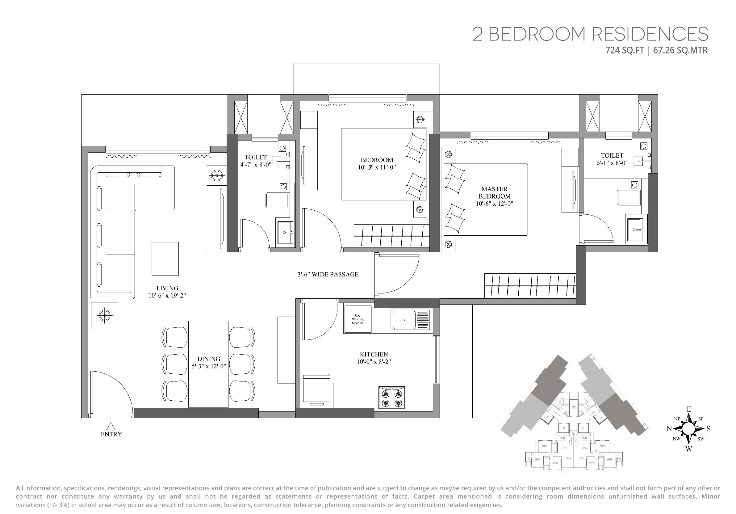 lotus unity apartment 2 bhk 724sqft 20202412132419