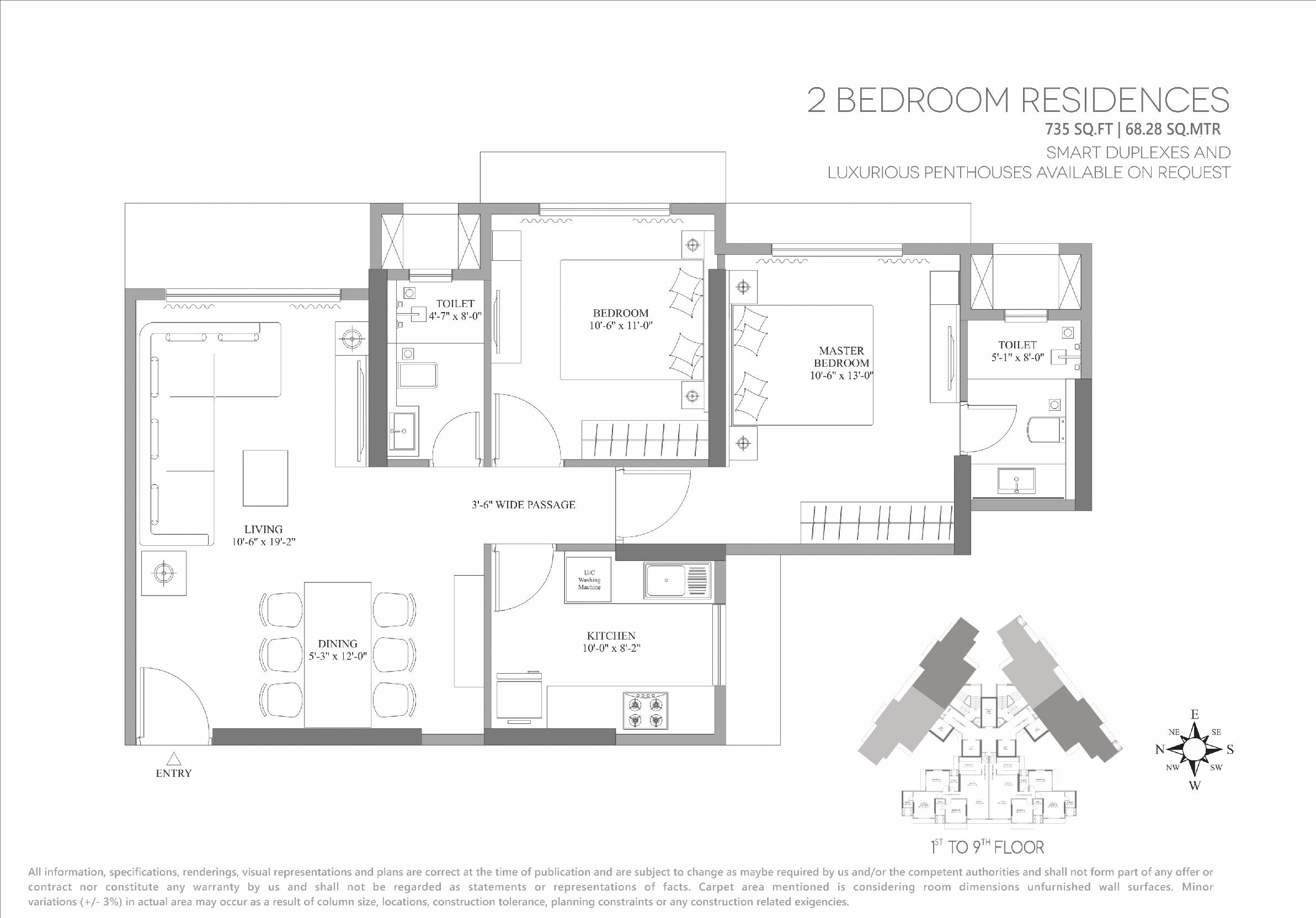 lotus unity apartment 2 bhk 735sqft 20202512132500