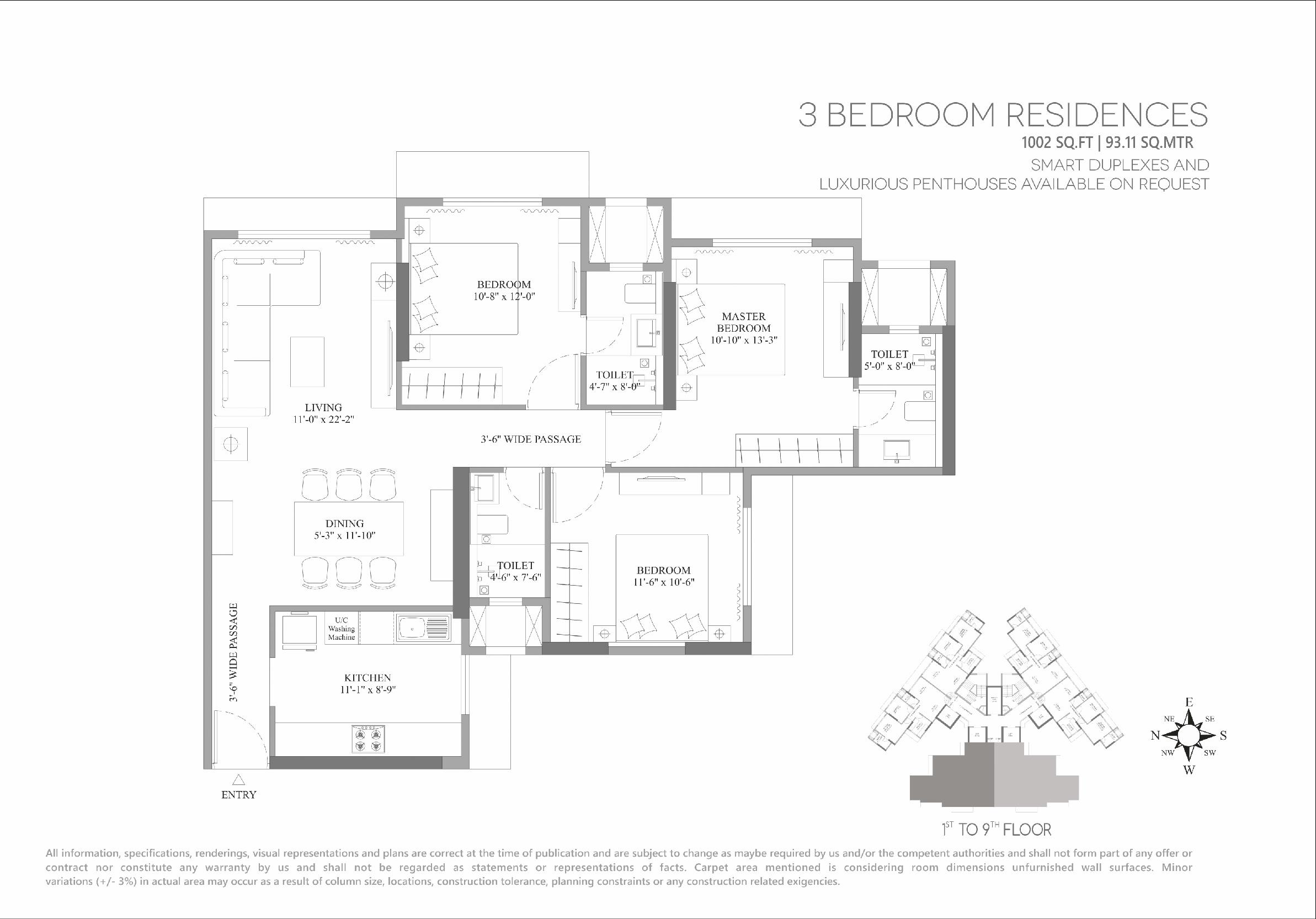 lotus unity apartment 3 bhk 1003sqft 20202712132737