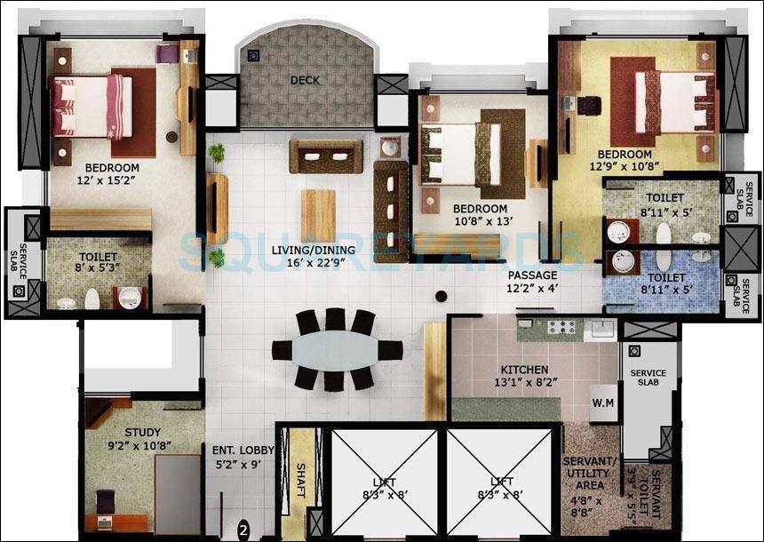 mahindra lifespaces eminente apartment 3bhk 2300sqft1