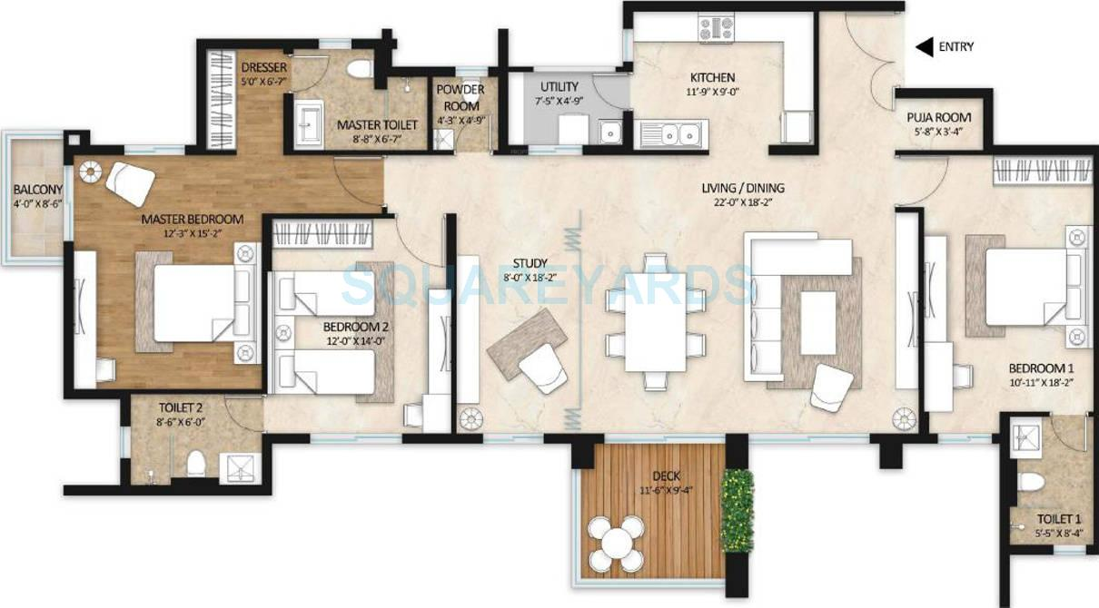 mahindra lifespaces gardens apartment 3bhk 2400sqft 1