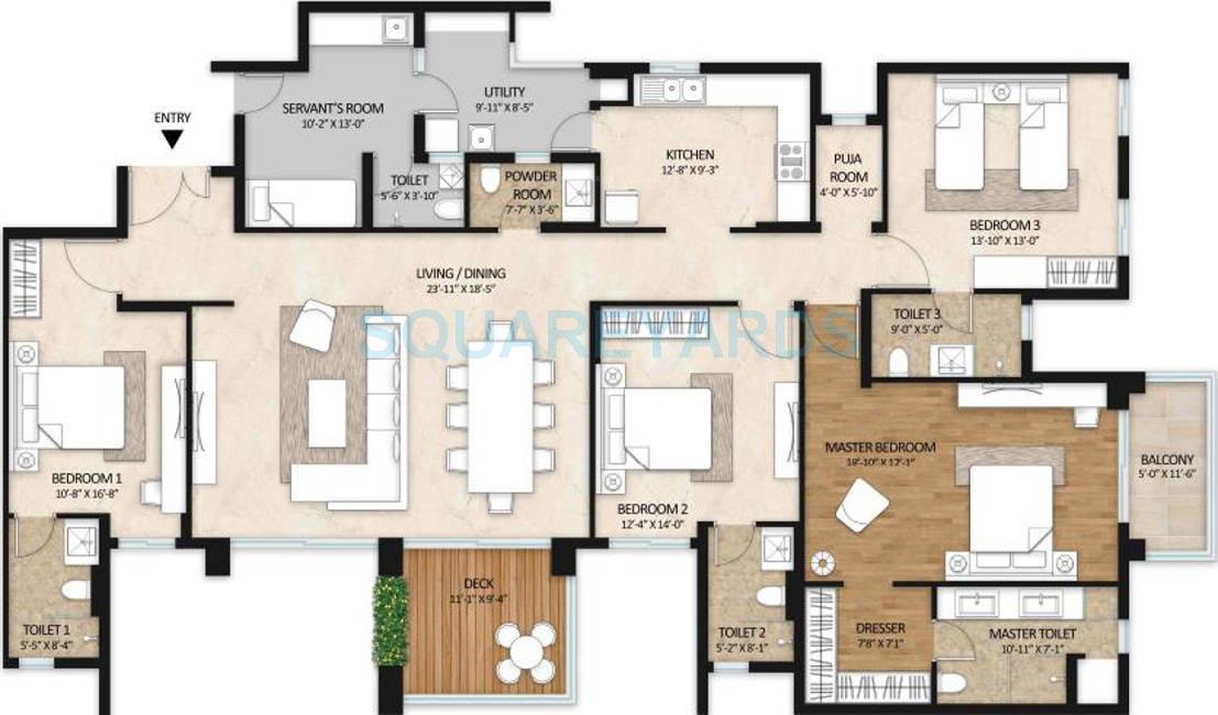 mahindra lifespaces gardens apartment 4bhk 3050sqft 1