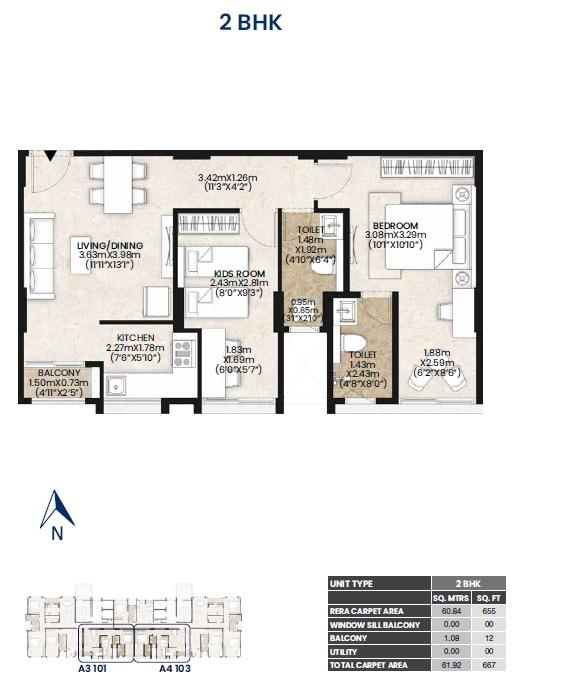 mahindra lifespaces vicino apartment 2bhk 667sqft71