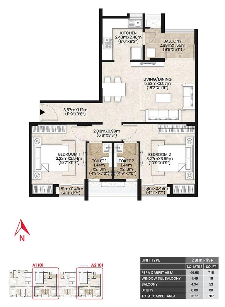 mahindra lifespaces vicino apartment 2bhk 787sqft51
