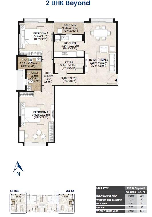 mahindra lifespaces vicino apartment 2bhk st 942sqft61