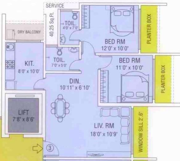 maredian heights apartment 2bhk 1068ÿ sqft31