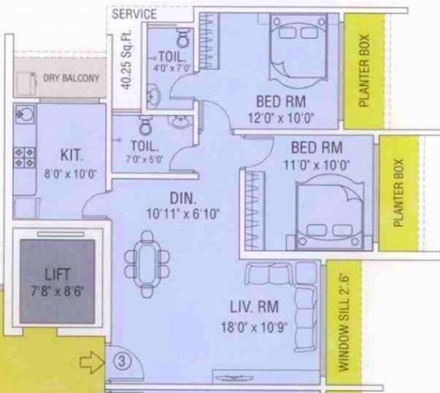 maredian heights apartment 2bhk 665sqft31