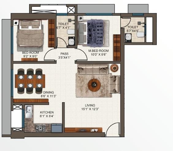 mayfair codename sara powai apartment 2bhk 619sqft31
