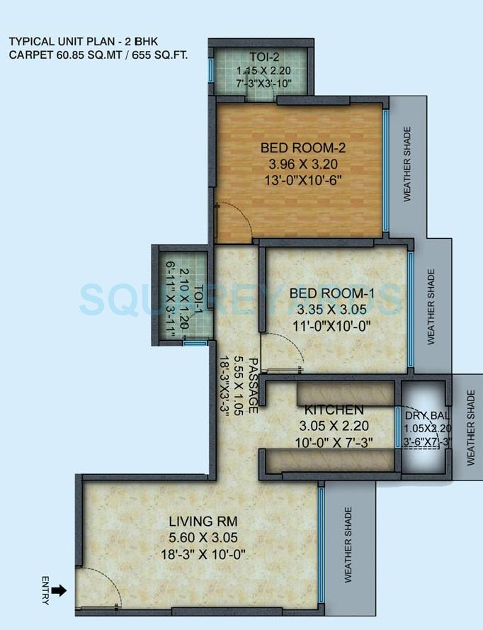 mayfair housing hillcrest apartment 2bhk 655sqft 1