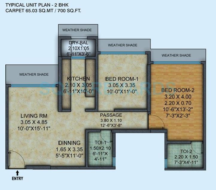 mayfair housing hillcrest apartment 2bhk 700sqft 1