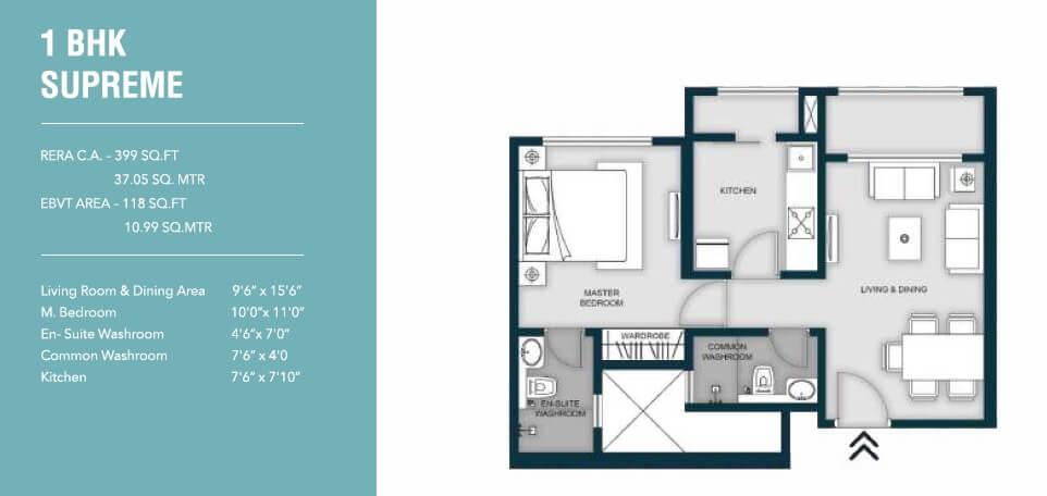 micl monteverde apartment 1bhk 517sqft 1
