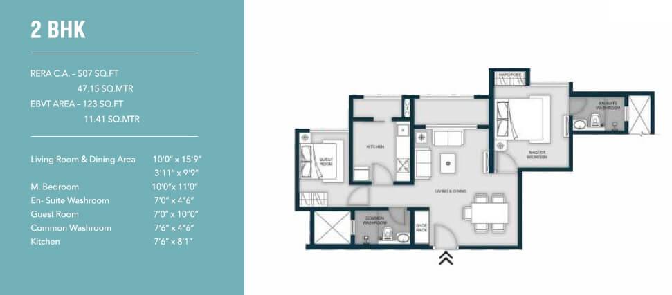 micl monteverde apartment 2bhk 630sqft 1