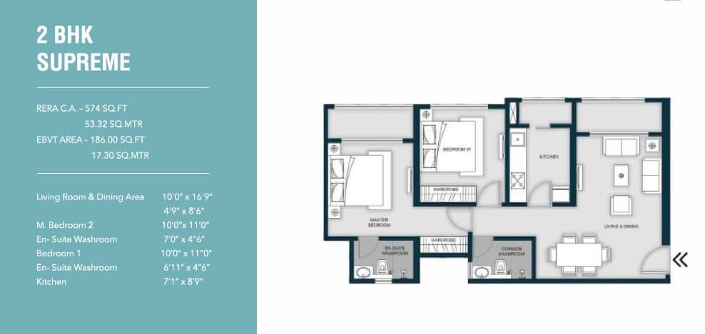 micl monteverde apartment 2bhk 760sqft 1
