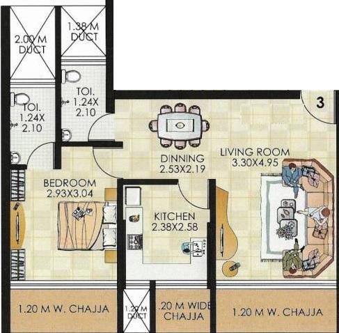 midas bhakti meadows apartment 1 bhk 484sqft 20214722114754