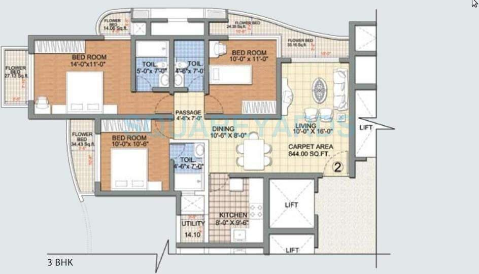 nirmal us open apartment 3bhk 1395sqft1