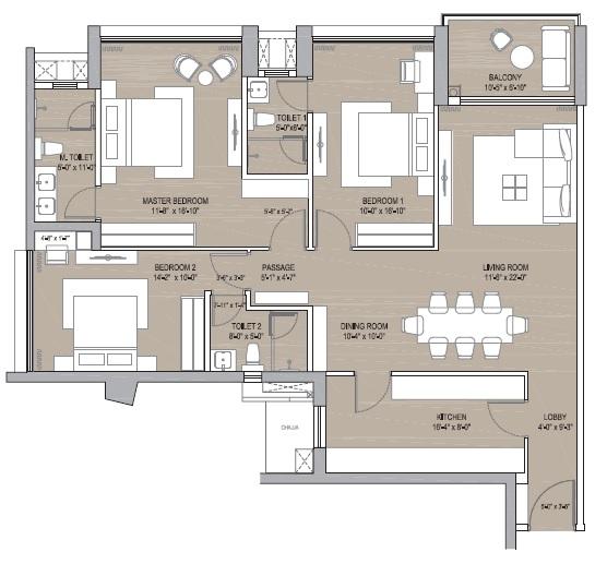 oberoi maxima apartment 3bhk 1330sqft21