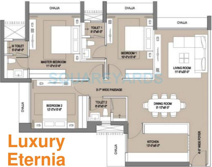 oberoi realty enigma and eternia apartment 3bhk 1670sqft1