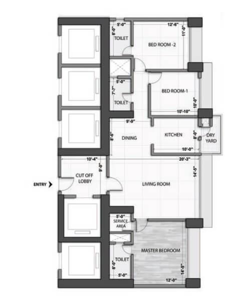 omkar alta monte apartment 3bhk 1210sqft 1