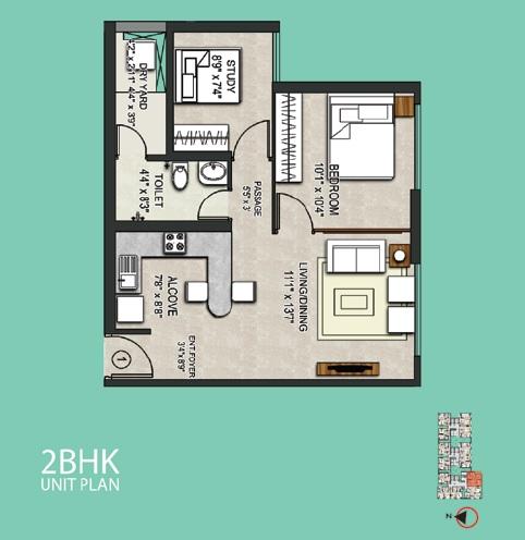 omkar meridia apartment 2bhk 600sqft 1