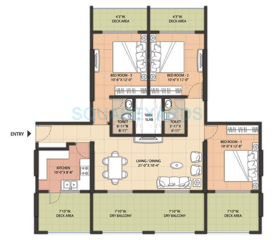 omkar raga apartment 3bhk 1534sqft1
