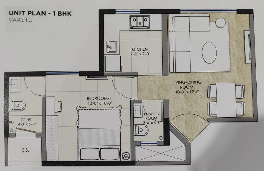 omkar sereno apartment 1bhk 350sqft 1