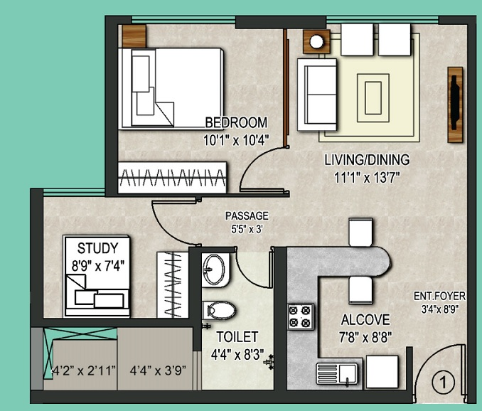 omkar vive apartment 2bhk 541sqft 1
