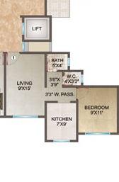 ornate classic apartment 1 bhk 545sqft 20203715163717