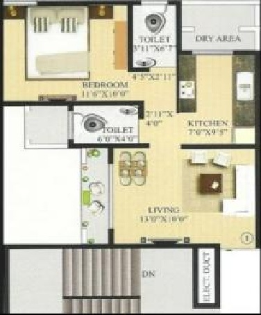 ornate universal nutan annexe apartment 1bhk 750sqft31