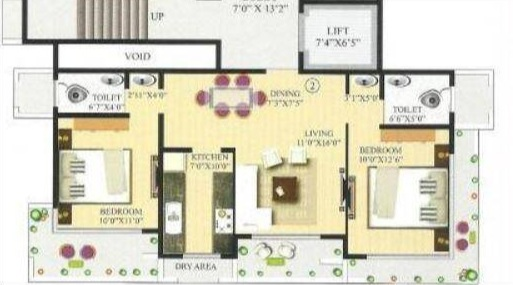 ornate universal nutan annexe apartment 2bhk 1250sqft31